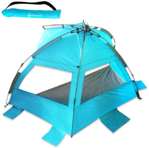 Half Dome, Lightweight, Easy Setup Beach Tent By DFeVENTURES | Windproof, Waterproof & Compact Sun Shelter For Hiking, Camping, Fishing, Outdoor Survival, Backpacking, Hunting, Mountaineering & More