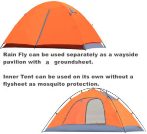 CCTRO 2 Person Camping Tent, Double Layer Waterproof 3 Season 2-Person Backpacking Tent, Tents for Camping