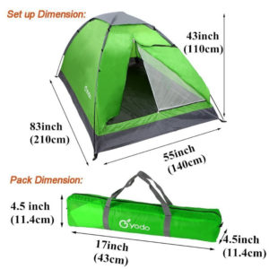 Yodo Lightweight 2 Person Camping Backpacking Tent