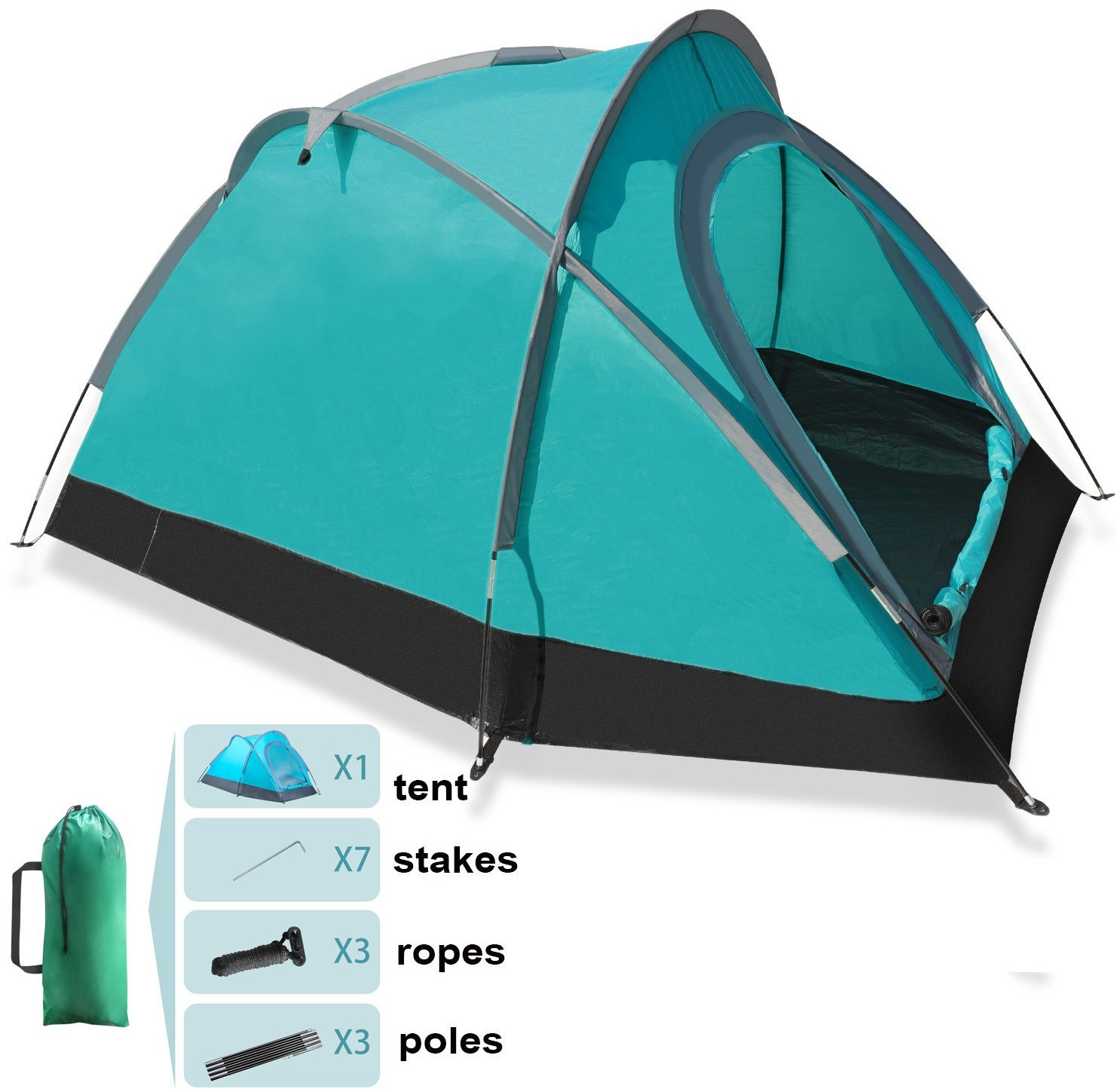 Lightweight Backpacking Tents 2 Person for Hiking C&ing Fishing Waterproof for 3 Seasons  sc 1 st  Geek Travellers & 10 Best travel backpacking tents under 50 dollar